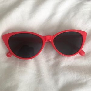 BP red cat eye sunglasses